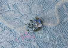 Shaded Blue Flower Hair Tie